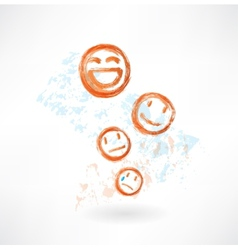 Many smiles grunge icon vector image
