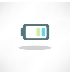 Abstract battery icon  button for websites ui or vector