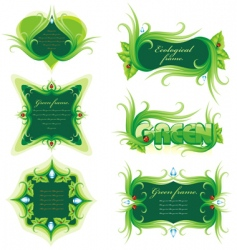 Nature frames vector