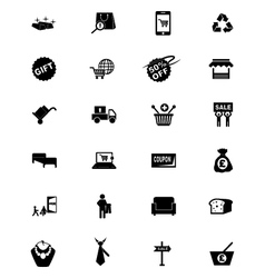Shopping solid icons 4 vector