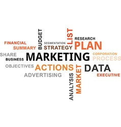 Word cloud marketing plan vector