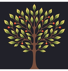 Black tree color vector
