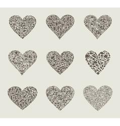 Heart design an element vector image