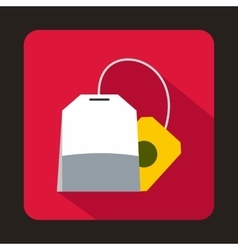 Teabag icon in flat style vector