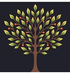 Black tree color vector image vector image
