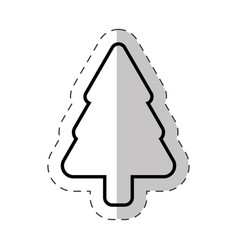 Christmas tree ornament cut line vector