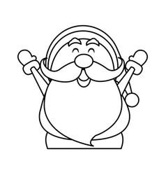 Cute christmas santa claus happy celebration vector