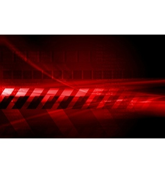 Dark red hi-tech design vector image vector image
