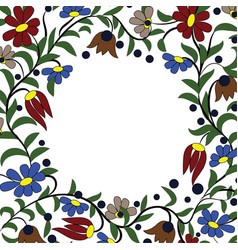 Frame flowers vector