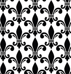 French style seamless pattern - Fleur de lis vector image