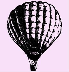 hot air balloon vector image