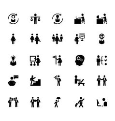 Human resource icons 3 vector