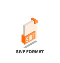image file format swf icon symbol vector image vector image