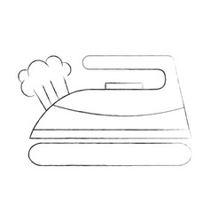 Iron clothes isolated icon vector