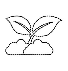 Leafs plant isolated icon vector