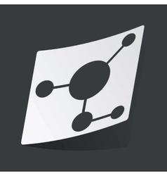 Monochrome molecule sticker vector