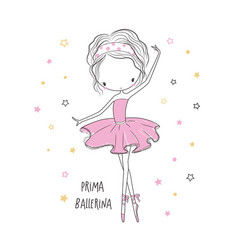 Prima ballerina fashion for clothing vector
