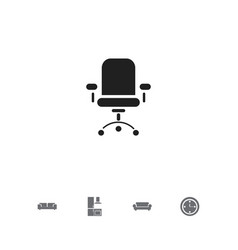 Set of 5 editable furnishings icons includes vector