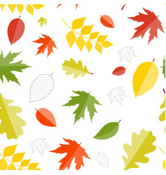 Shiny Autumn Natural Leaves Seamless Pattern vector image vector image