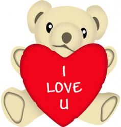 valentine bear vector image vector image