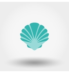 Shell flat icon vector
