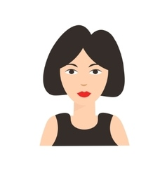 Asian chinese woman flat vector