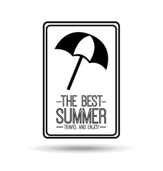 Umbrella card best summer travel and enjoy vector