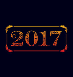 Number 2017 background vector