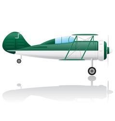 old retro airplane vector image