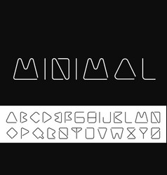 Thin minimalistic font creative english alphabet vector