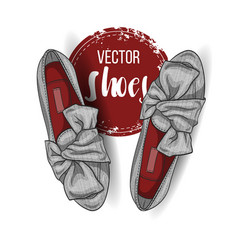 Fashion color womens shoes vector