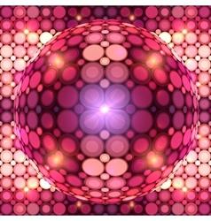 Red shining disco ball vector image