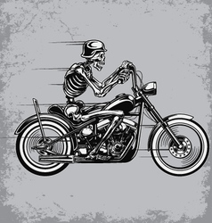 Skeleton riding motorcycle vector