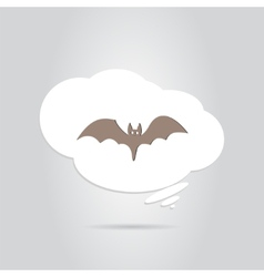 Icon bat happy halloween holiday vector