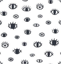 Eyes seamless pattern vector