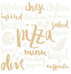 Pizza set vector image