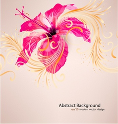 Hibiscus flower background vector