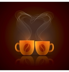 Two cups vector