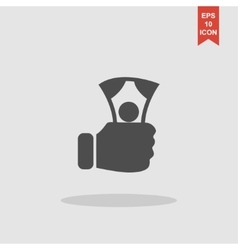 Hand holding money icon vector