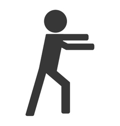 Person on fight icon avatar boxing vector