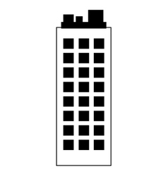 Building silhouette construction icon vector