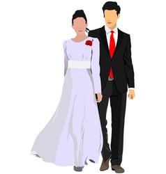 al 0841 couple 03 vector image