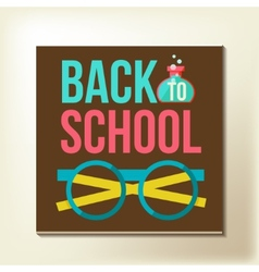 Back to school design template vector image vector image