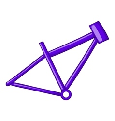 Bicycle frame icon cartoon style vector