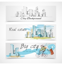 Big city banners vector