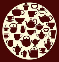 coffee and tea - vector image vector image