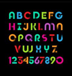color ribbon alphabet vector image