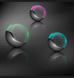colorful orb emblems vector image vector image