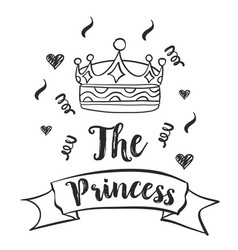 Crown style hand draw doodle collection vector