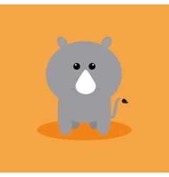 Cute Cartoon Rhino vector image